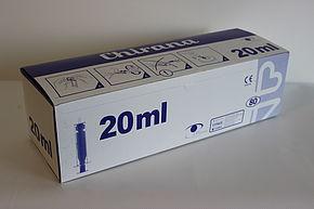 Stříkačka injekční dvoudílná 20ml (80ks/bal) (12bal/kar) (192bal/pal)