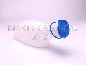 Láhev na moč s uzávěrem - bílá, 1000ml (30ks/bal)