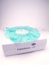 Čepice baret Foliodress Cap Universal, s elastickým okrajem, zelená (100ks/bal) (8bal/kar) - DOPR.